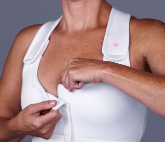 bra-white Heart & Core | Post-Surgical and Radiation Bras