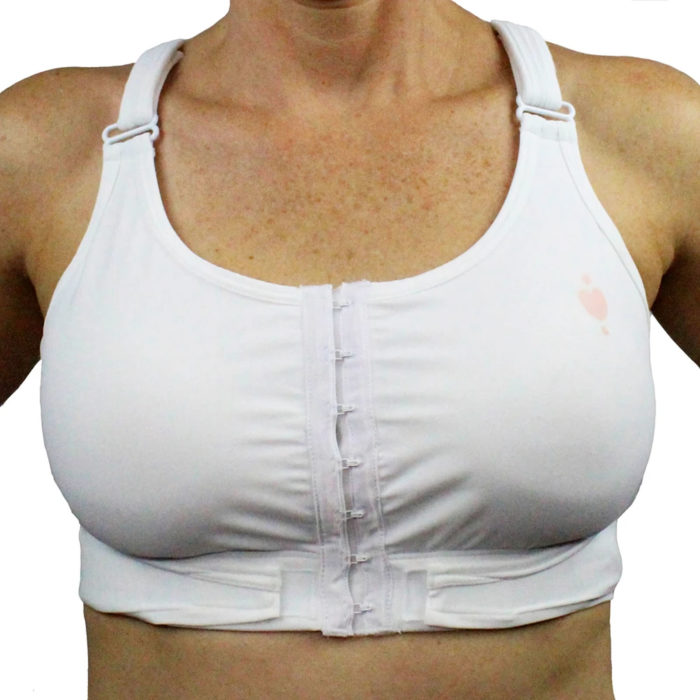 White hugfit bra: Heart & Core | Post-Surgical and Radiation Bras